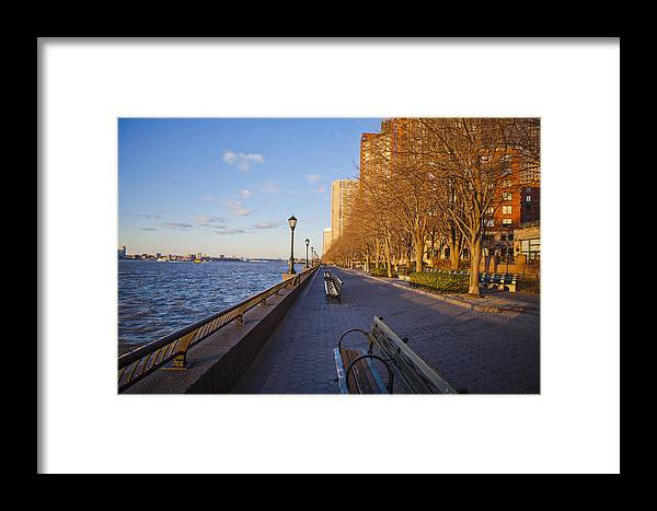 Battery Park City Framed Print featuring the photograph View From Battery Park City by Theodore Jones