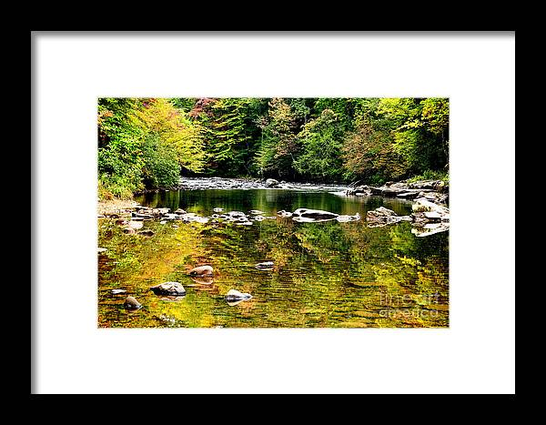 Williams River Framed Print featuring the photograph Williams River Autumn by Thomas R Fletcher