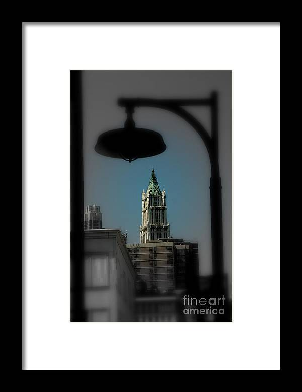 Digital Designs Framed Print featuring the photograph Woolworth Building by Mark Gilman
