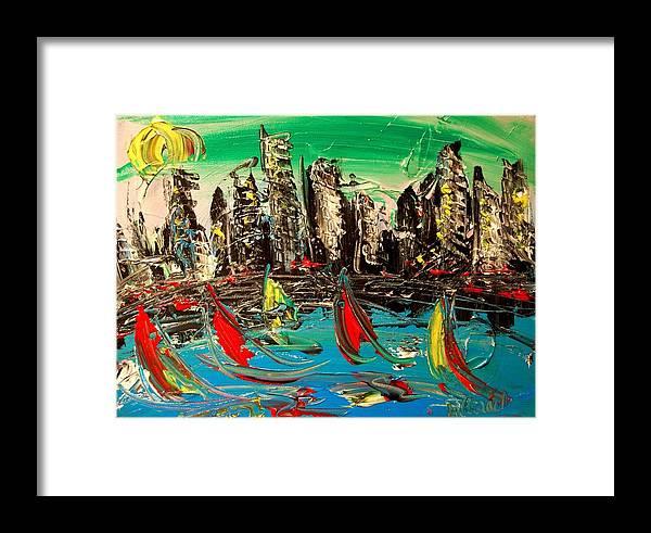 Framed Print featuring the mixed media City by Mark Kazav