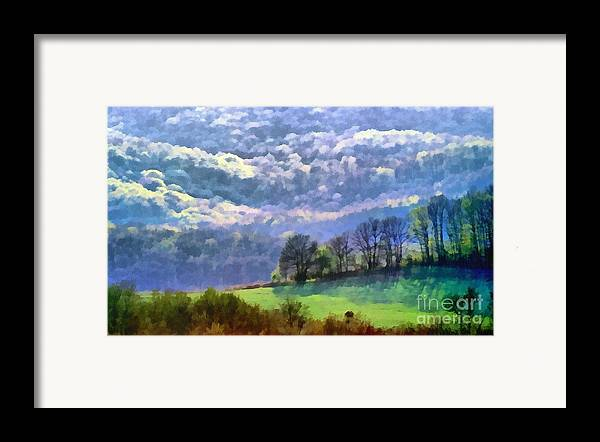 Odon Framed Print featuring the painting Landscape by Odon Czintos