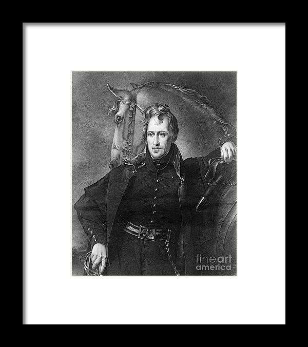 1820 Framed Print featuring the photograph Andrew Jackson (1767-1845) by Granger