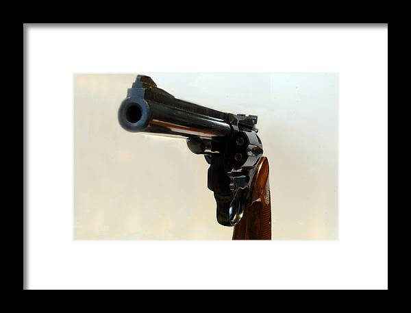 Weapon Framed Print featuring the photograph 357 Mag by Skip Willits