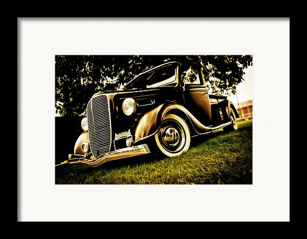Ford Pickup Framed Print featuring the photograph 37 Ford Pickup by Phil 'motography' Clark