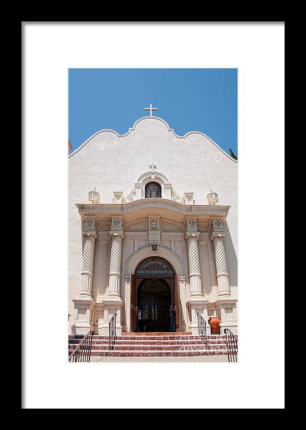 Architecture Framed Print featuring the digital art Old Town San Diego by Carol Ailles