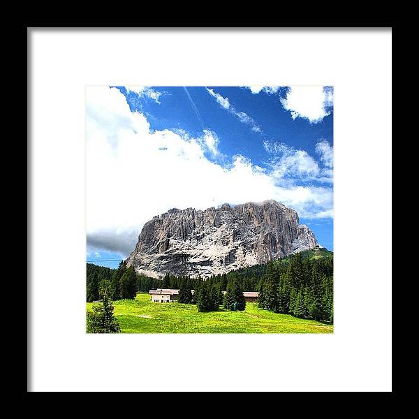 Beautiful Framed Print featuring the photograph Dolomites by Luisa Azzolini