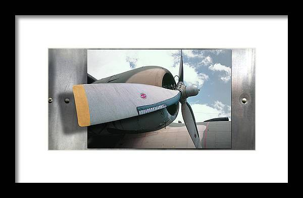 Propeller Framed Print featuring the photograph 3d Prop by Mark Dottle