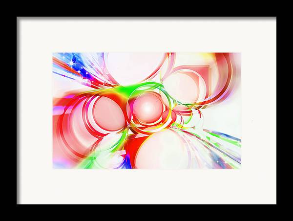 Rainbow Framed Print featuring the painting Abstract Of Circle by Setsiri Silapasuwanchai
