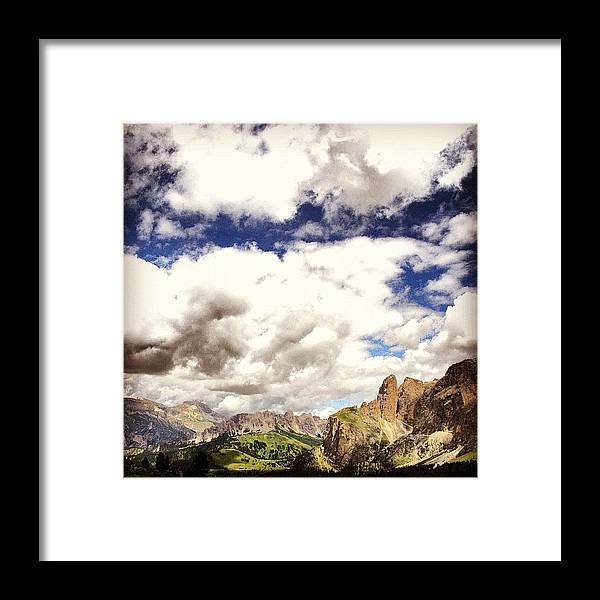 Mountain Framed Print featuring the photograph Dolomiti by Luisa Azzolini