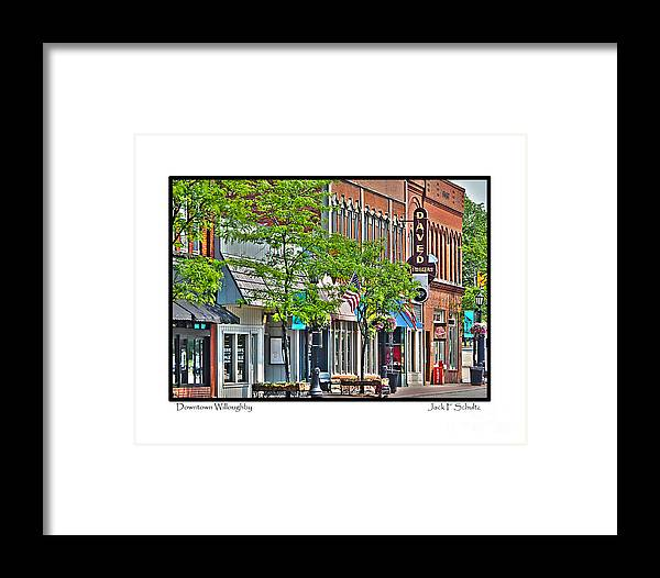 Downtown Willoughby Ohio Framed Print featuring the photograph Downtown Willoughby by Jack Schultz
