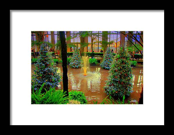Lake The Way Of The Dream View Framed Print featuring the digital art Dupont Gardens by Aron Chervin