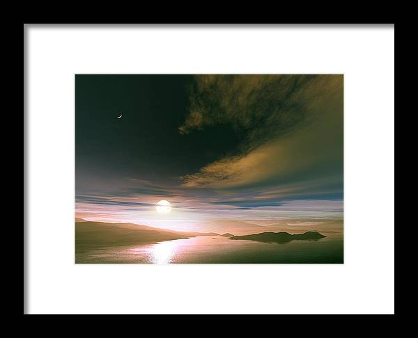 Earth-like Framed Print featuring the photograph Earth-like Planet, Artwork by Detlev Van Ravenswaay