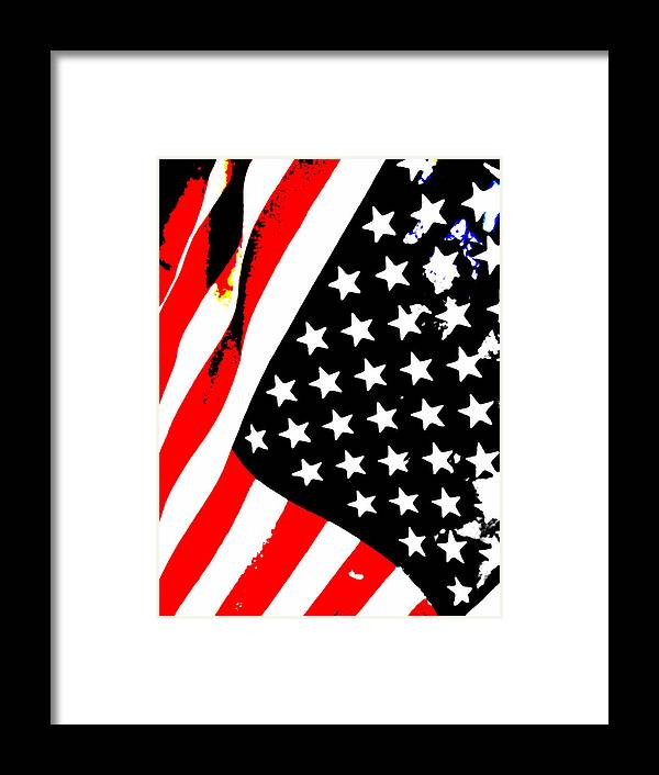Flag Lady Framed Print featuring the photograph Flag Lady by J Burns
