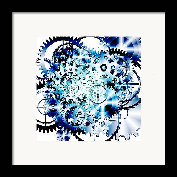 Art Framed Print featuring the photograph Gears Wheels Design by Setsiri Silapasuwanchai