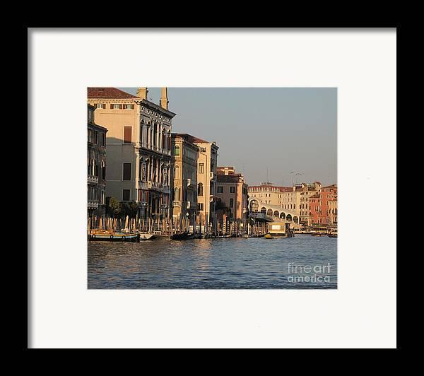 Grand Canal Framed Print featuring the pyrography Grand Canal. Venice by Bernard Jaubert