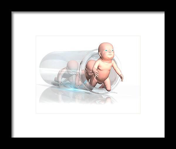 Human Framed Print featuring the photograph Human Cloning by Laguna Design