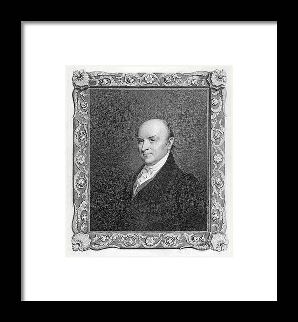19th Century Framed Print featuring the photograph John Quincy Adams by Granger