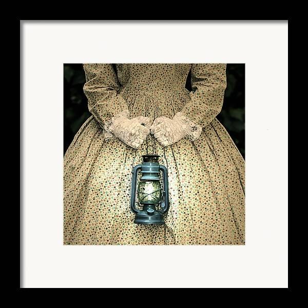Female Framed Print featuring the photograph Lantern by Joana Kruse