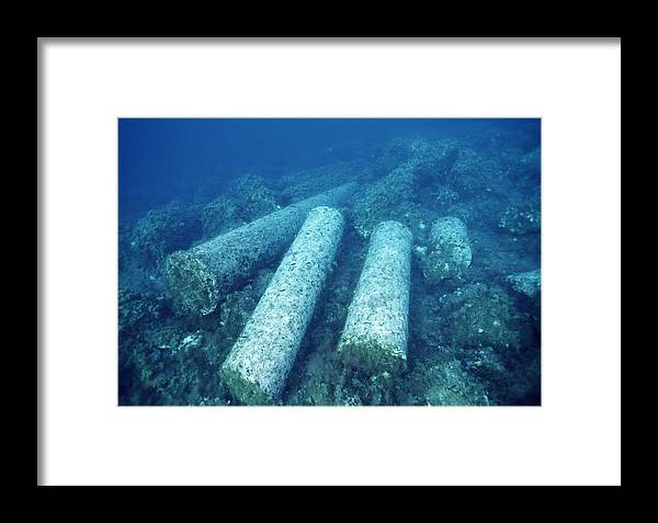Diving Framed Print featuring the photograph Marine Archaeology by Alexis Rosenfeld
