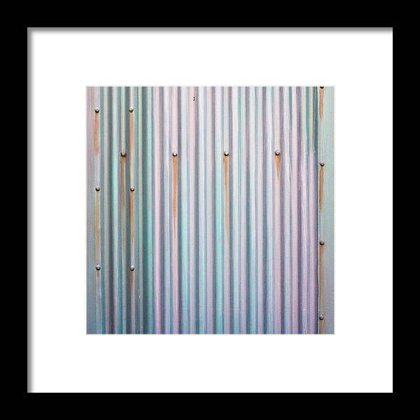 Background Framed Print featuring the photograph Metal Background by Tom Gowanlock