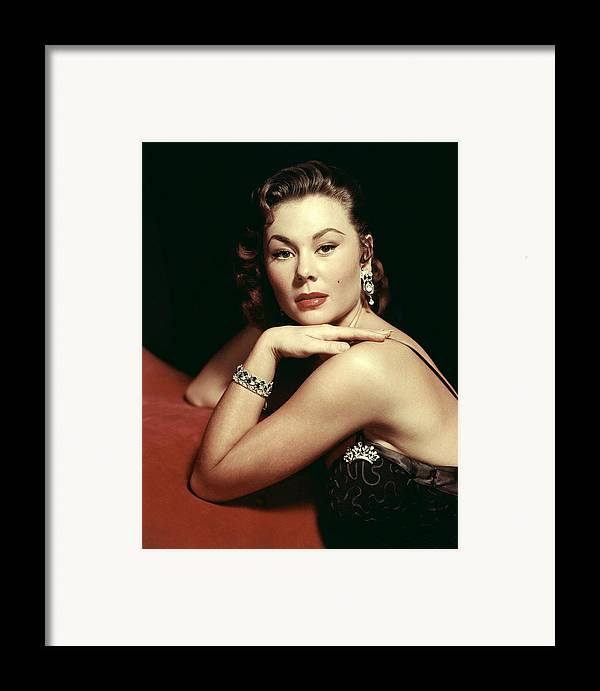 1950s Portraits Framed Print featuring the photograph Mitzi Gaynor, Ca. Early 1950s by Everett