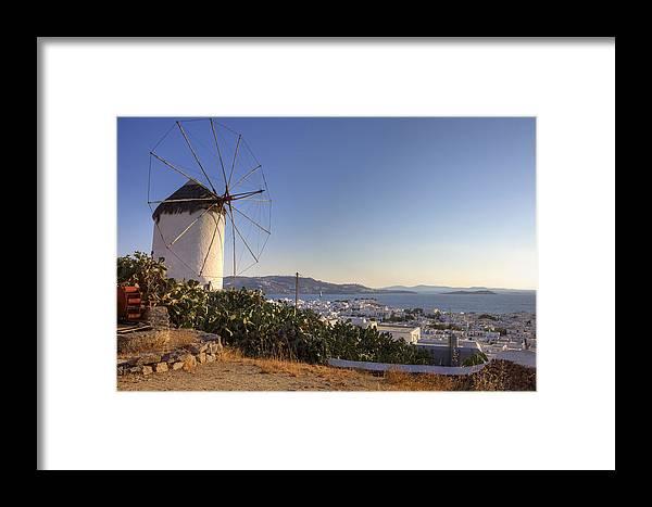 Ano Myli Framed Print featuring the photograph Mykonos by Joana Kruse