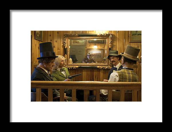 Impressionism Framed Print featuring the photograph 4 or 5 Bad Guys by Paul Cannon