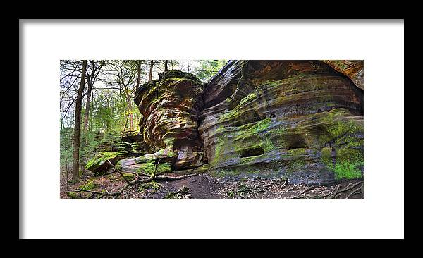 Framed Print featuring the photograph Rock House by Brian Stevens