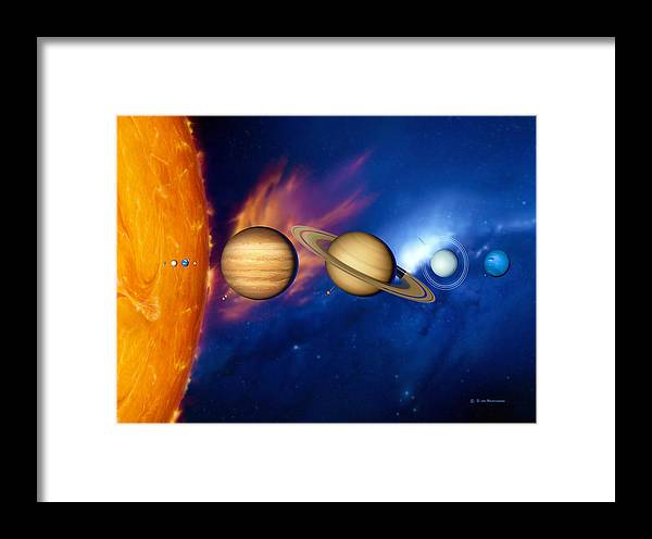 Neptune Framed Print featuring the photograph Sun And Its Planets by Detlev Van Ravenswaay