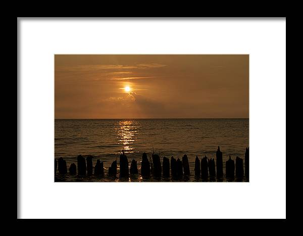 Sun Framed Print featuring the photograph Sunset by Estelita Asehan
