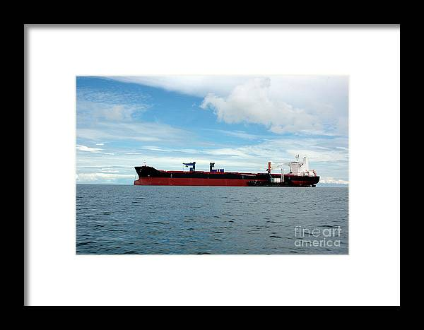Ship Framed Print featuring the photograph Tanker Ship by Antoni Halim