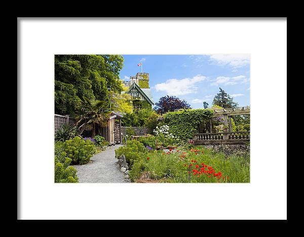 Color Image Framed Print featuring the photograph The Gardens Of Royal Roads University by Taylor S. Kennedy