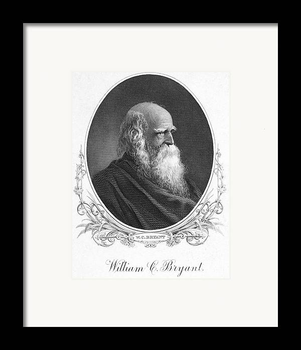 19th Century Framed Print featuring the photograph William Cullen Bryant by Granger