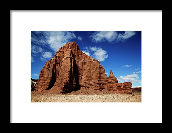 Capitol Reef National; Park; Cathedral Valley; Utah; Travel; Grand Circle; Southern Utah; Beauty; Skys; Clouds; Nature; Vista; National Park; Monolith; Sandstone; Desert; Landscape; Scenic; Photography; Vast Framed Print featuring the photograph Capitol Reef National Park by Southern Utah Photography
