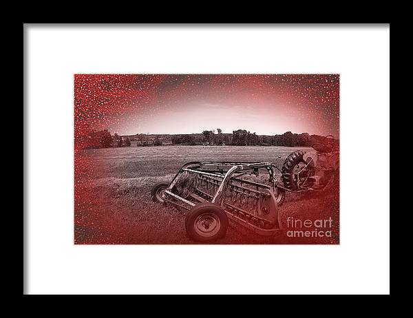 Rake Framed Print featuring the photograph 47 Bales by The Stone Age