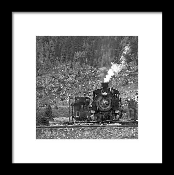 Drgw Framed Print featuring the photograph 482 In Silverton - Bw by Tim Mulina