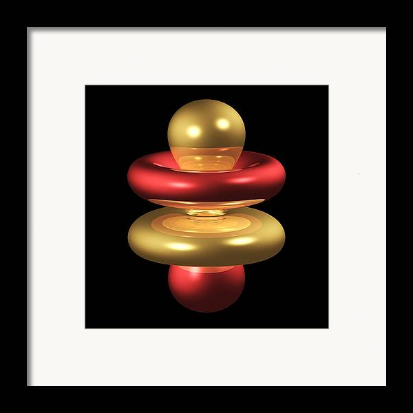 4fz3 Framed Print featuring the photograph 4fz3 Electron Orbital by Dr Mark J. Winter