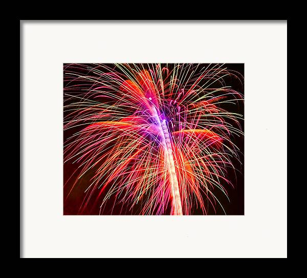 United Framed Print featuring the photograph 4th Of July - Independence Day Fireworks by Gordon Dean II