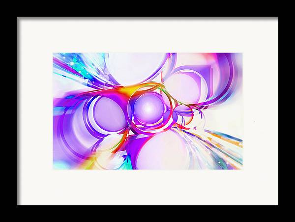Rainbow Framed Print featuring the painting Abstract Of Circle by Setsiri Silapasuwanchai
