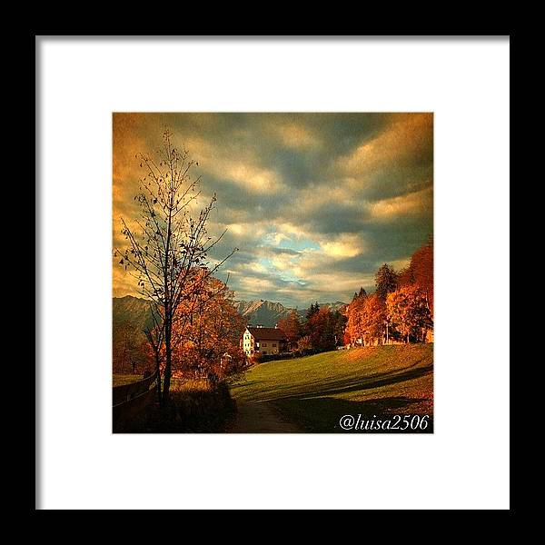 Beautiful Framed Print featuring the photograph Autumn In South Tyrol by Luisa Azzolini