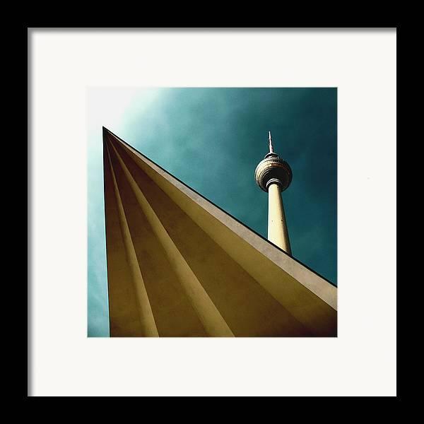 Berlin Tv Tower Framed Print featuring the photograph Berlin Tv Tower by Falko Follert