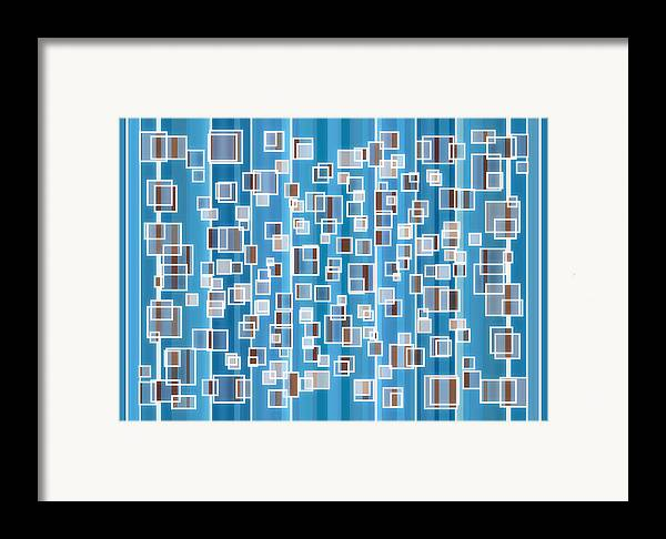 Blue Framed Print featuring the painting Blue Abstract by Frank Tschakert