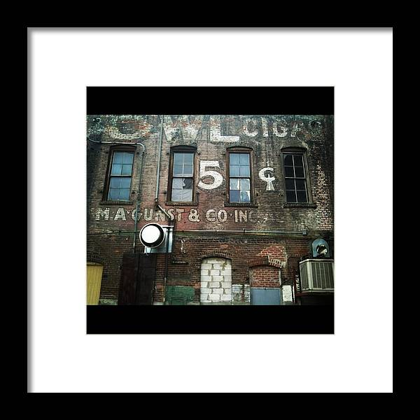 City Framed Print featuring the photograph 5 Cent Market by Aimee Reutercrona