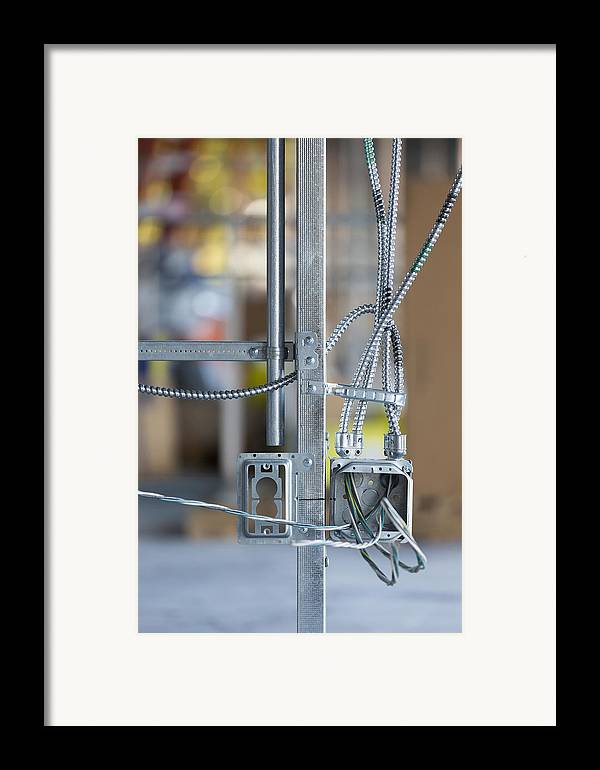 No People Framed Print featuring the photograph Commercial Building Under Construction by Don Mason