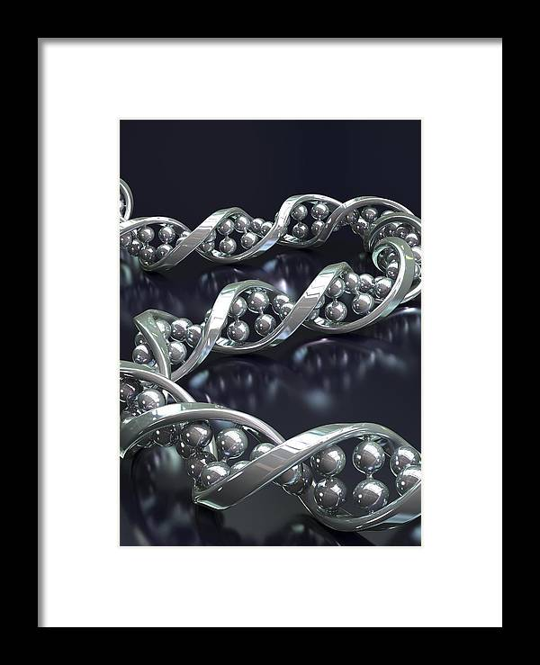 1 Framed Print featuring the photograph Dna Molecule, Artwork by David Mack