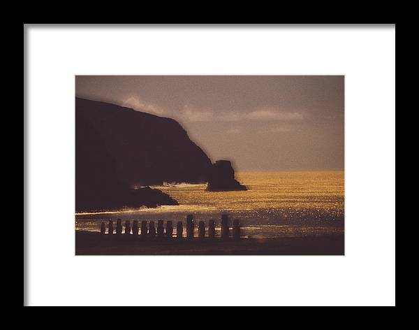 Easter Island Framed Print featuring the photograph Easter Island Statues by David Nunuk