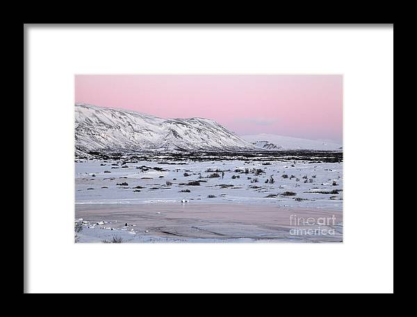 Iceland Framed Print featuring the photograph Iceland by Milena Boeva