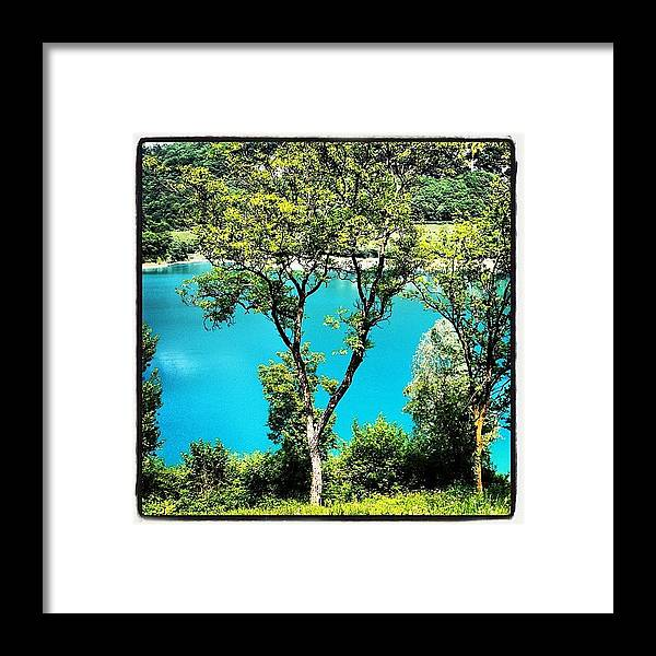 Beautiful Framed Print featuring the photograph Lake Of Tenno by Luisa Azzolini