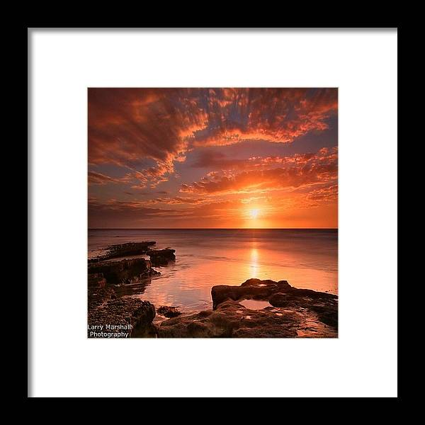 Framed Print featuring the photograph Long Exposure Sunset At A North San by Larry Marshall