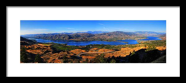 Wesley Framed Print featuring the photograph Osoyoos by Wesley Allen Shaw